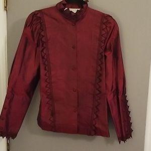 Vintage Anna Weatherly silk skirt and shirt.